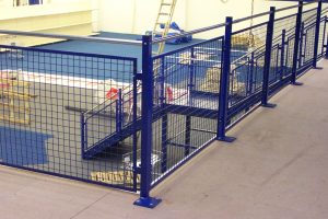 Mezzanine floor handrail