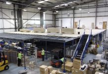 Mezzanine Floors factory unit - staff room creation