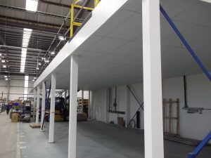 Mezzanine Floor Fire Protection can be added