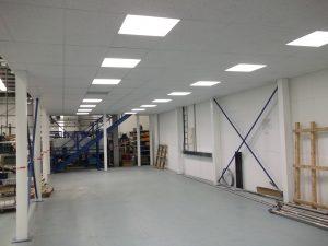 Mezzanine Floor Lighting installed under the floor