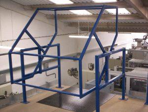 Mezzanine flooring Pallet Gates in use