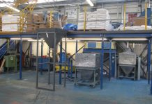 mezzanine floor with steel decking