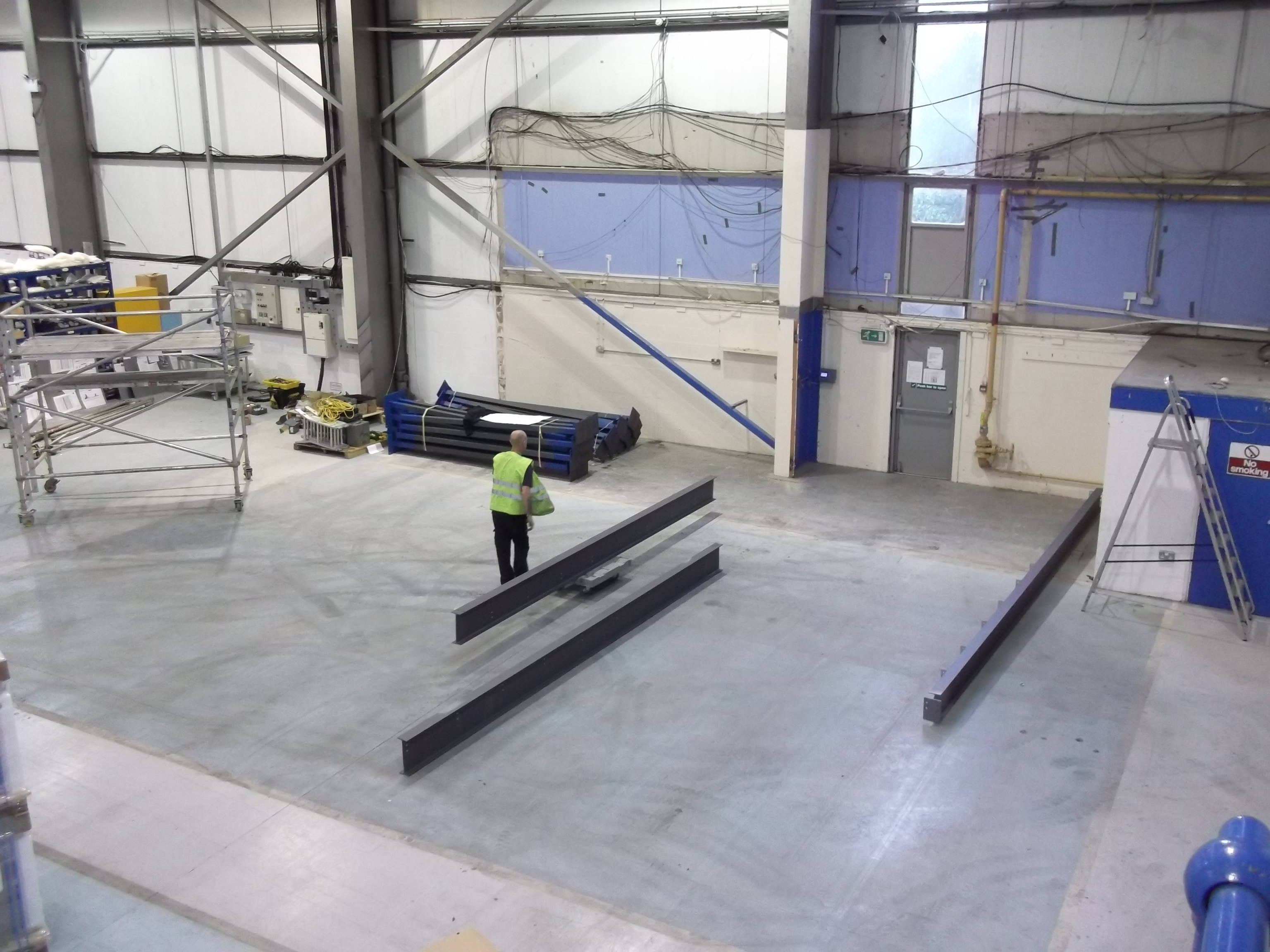 Mezzanine Floor with Offices Cafe and Production Stores